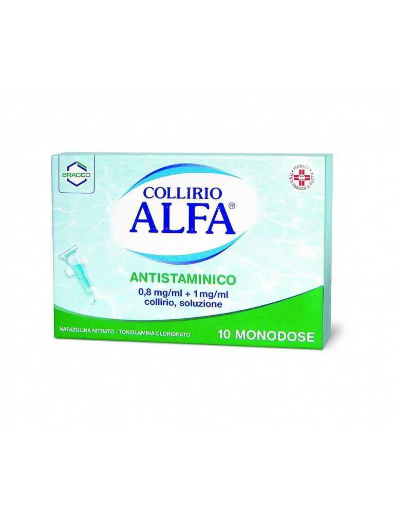 Alfa Collirio Antistaminico 10 monodosi DOMPE' FARMACEUTICI SpA 027837020 Antistaminici