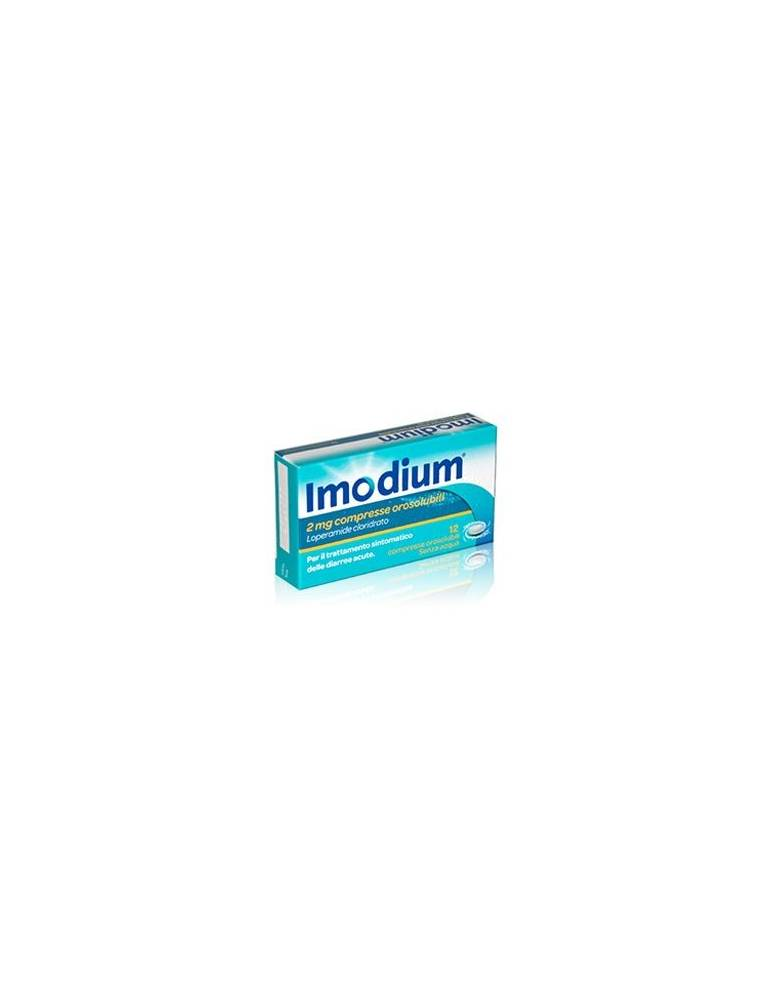 IMODIUM 2MG 12 COMPRESSE OROSOLUBILI JOHNSON & JOHNSON SpA 023673092 Antidiarroici