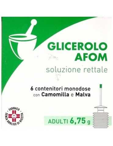 GLICEROLO AFOM ADULTI 6 CONTENITORI 6,75G Aeffe Farmaceutici029916083 Aeffe Farmaceutici