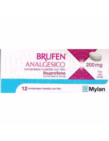 Brufen Analgesico 400mg 12 compresse rivestite MYLAN SpA 042386348 Analgesici e antinfiammatori