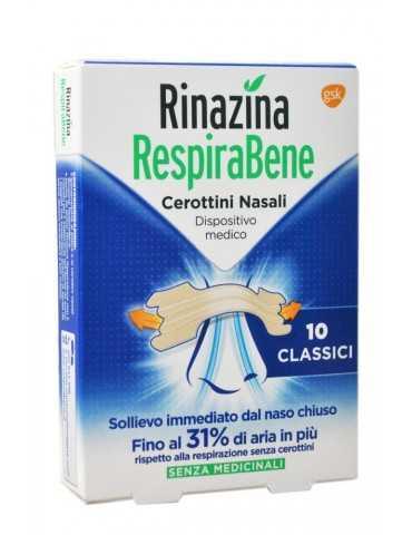 Rinazina RespiraBene 10 cerottini nasali classici 972708756