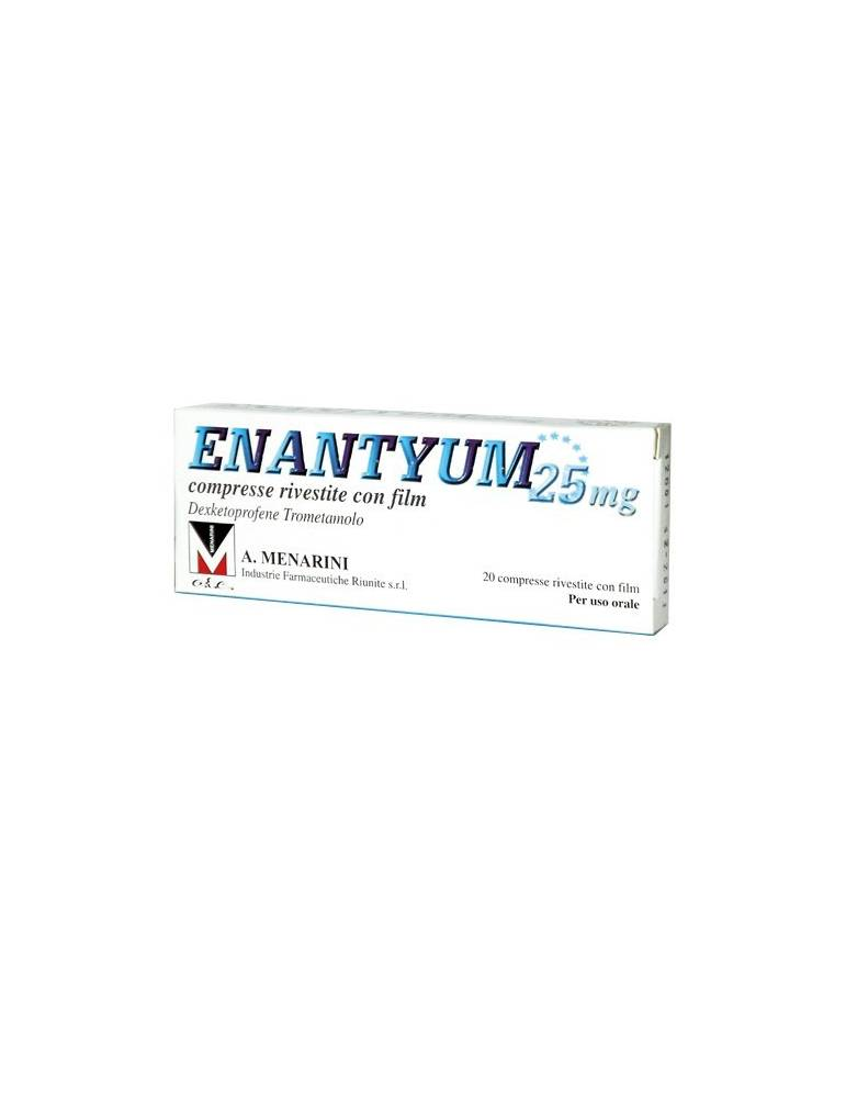Enantyum 25mg 20 compresse rivestite A.MENARINI IND.FARM.RIUN.Srl 033656036 Analgesici e antinfiammatori