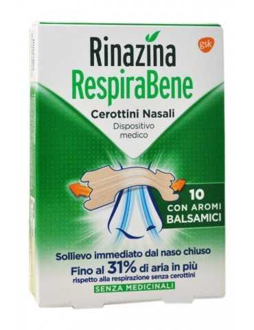 Rinazina RespiraBene 10 cerottini nasali con aromi balsamici 972708883