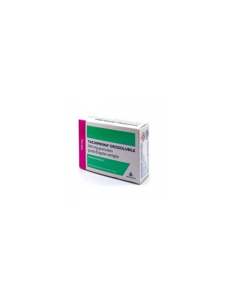 Tachipirina Orosolubile 500mg granulato gusto fragola-vaniglia 12 bustine 040313049