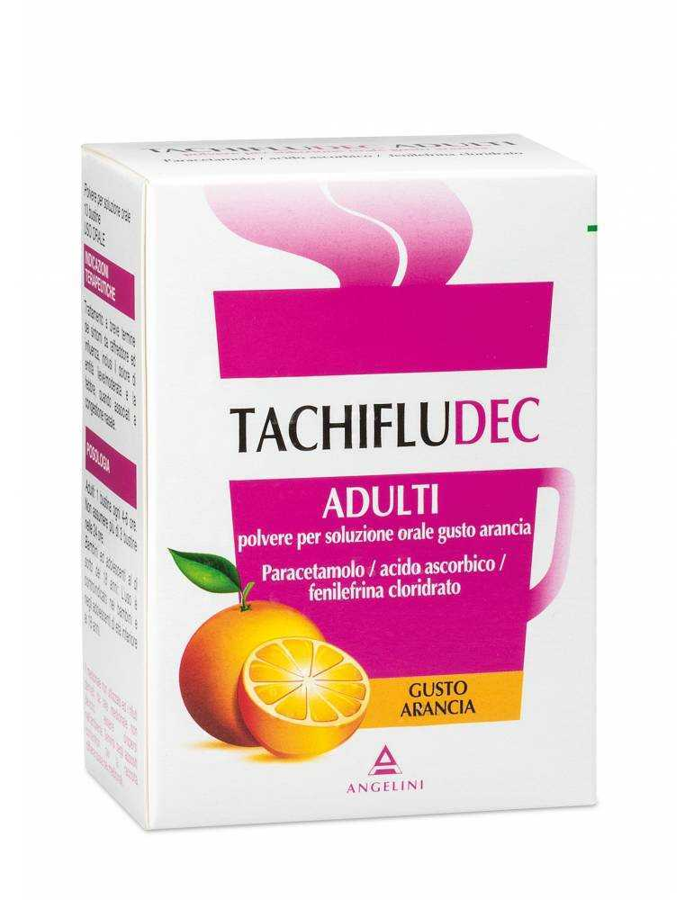 Tachifludec 10 bustine gusto arancia ANGELINI SpA034358034 ANGELINI SpA