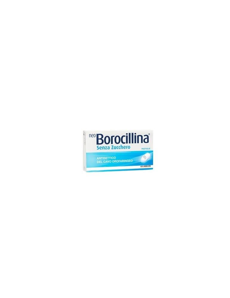 NeoBorocillina Antisettico cavo orofaringeo senza zucchero 16 pastiglie Alfa Sigma