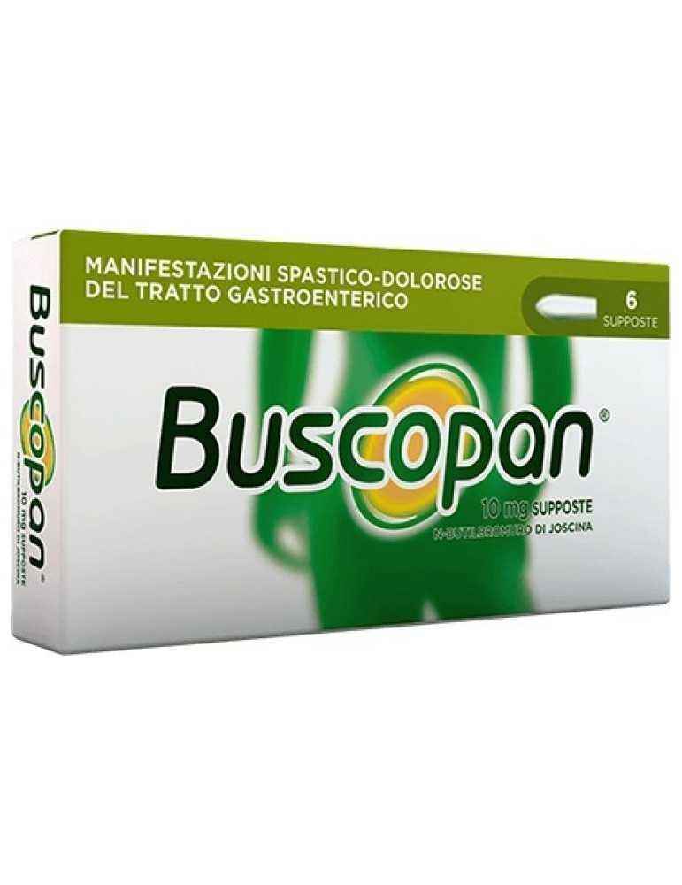 Buscopan antispastico antidolorifico gastrico genito-urinario 6 supposte 006979049