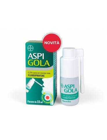 Aspi Gola 0,25% spray per la mucosa orale 15ml 041513021