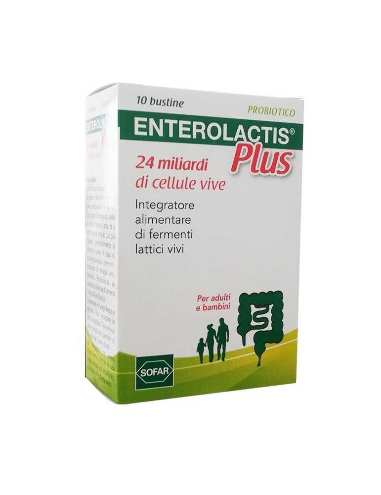 Enterolactis Plus Probiotici fermenti lattici 10 bustine 902557812