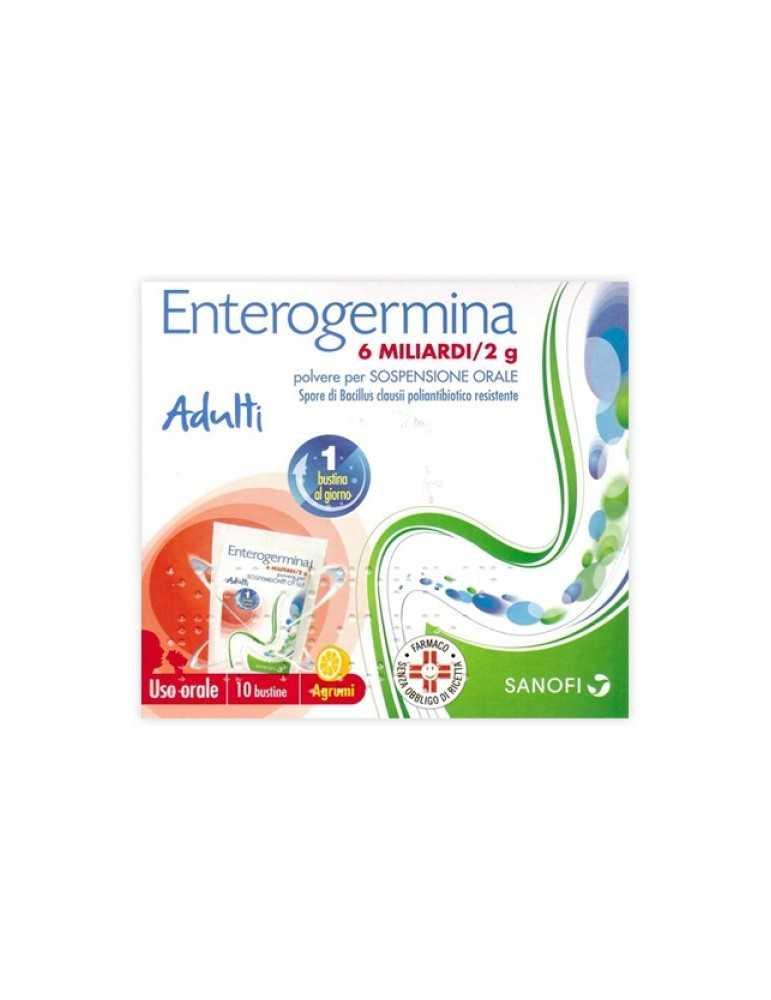 Enterogermina Adulti 6 Miliardi 10 bustine 2g 013046091