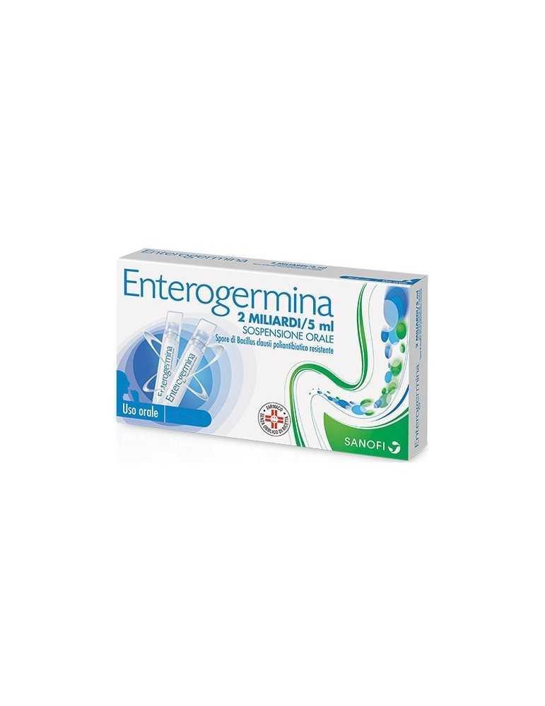 Enterogermina 2 miliardi di spore attive 10 flaconcini 042829046