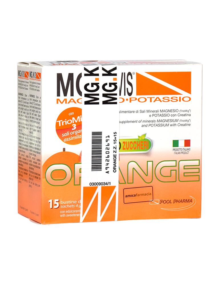 Mg.K Vis Magnesio e Potassio gusto Orange senza zucchero 15 bustine +15 omaggio 942602691