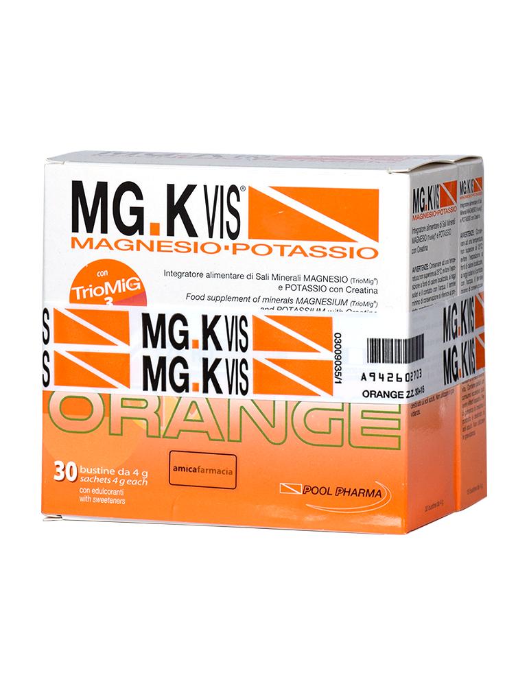 Mg.K Vis Magnesio e Potassio gusto Orange senza zucchero 30 bustine +15 omaggio 942602703