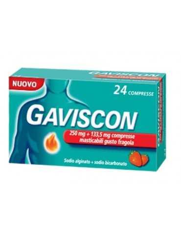 Gaviscon 24 compresse masticabili aroma menta 250+133,5mg