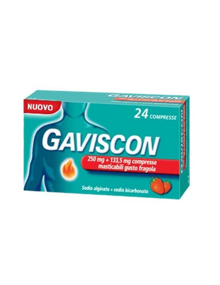 Gaviscon 24 compresse masticabili aroma menta 250+133,5mg 024352167