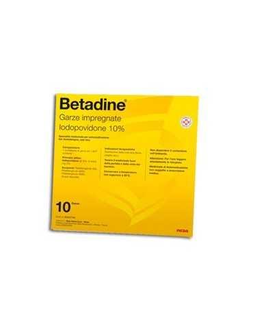 Betadine 10 garze 10x10 cm