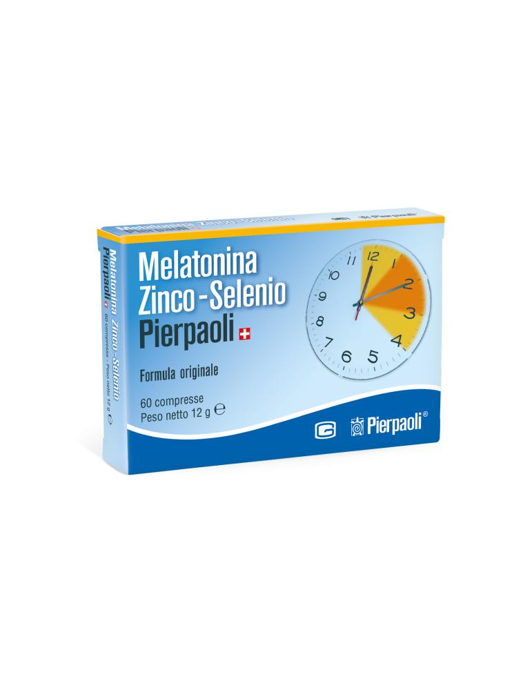 Melatonina Zinco-Selenio Pierpaoli formula originale 60 compresse senza glutine Pierpaoli970283952 Pierpaoli