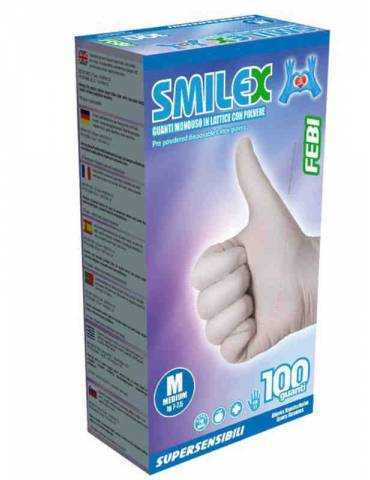 Guanti Smilex Febi Lattice Taglia Medium 100pz 939886899