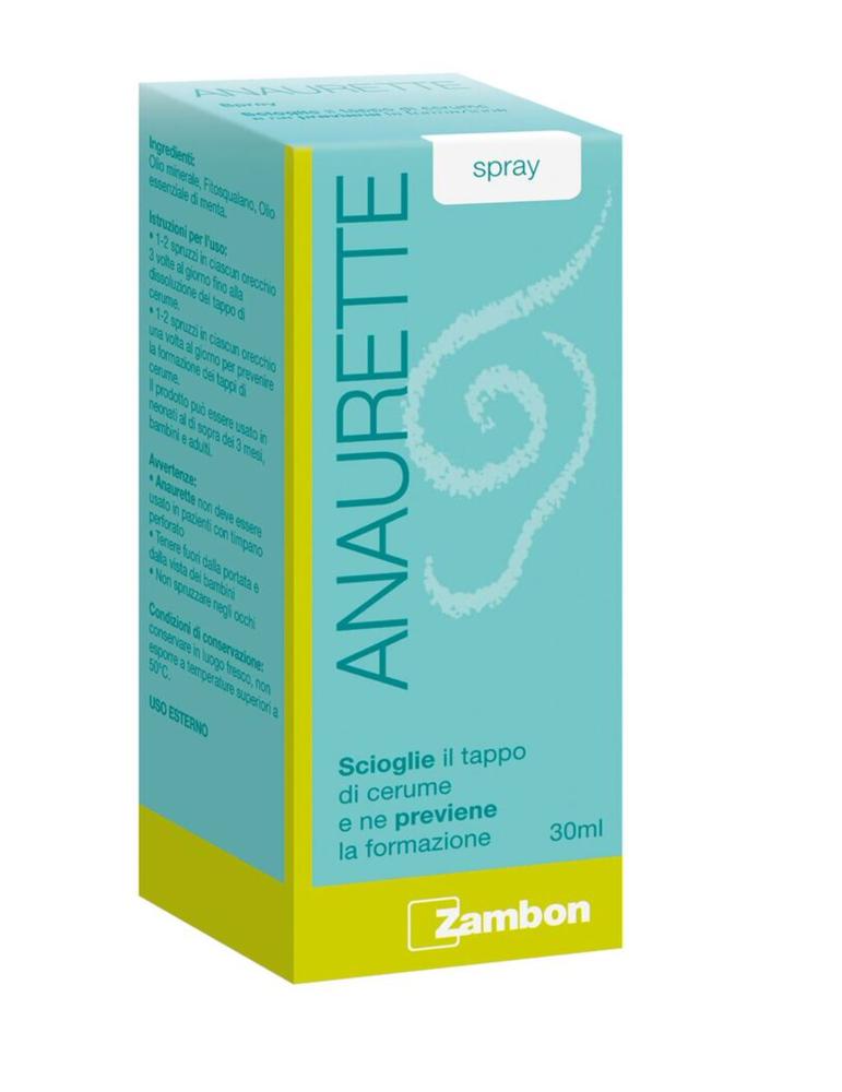 Anaurette Spray benessere del canale uditivo 30ml ZAMBON ITALIA Srl931961484 ZAMBON ITALIA Srl