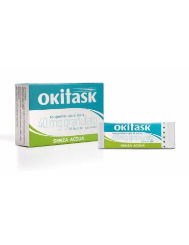 Okitask 40mg granulato senza acqua 10 bustine orosolubili 042028011