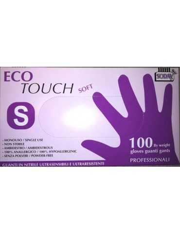 Guanti nitrile eco-touch soft taglia s 100pz