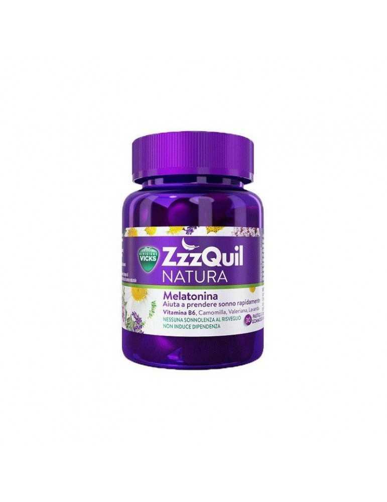 Vicks Zzzquil Natura 30 pastiglie gommose integratore per il sonno 976597068