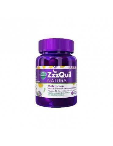 Vicks Zzzquil Natura 60 pastiglie gommose integratore per il sonno 976597070