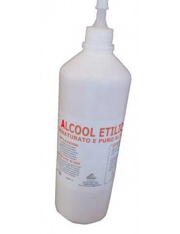 Alcool Denaturato e Puro flacone da 1Litro