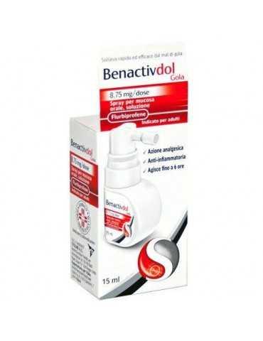 Benactivdol Gola Spray Mucosa Soluzione Orale 15 Ml 8,75 Mg/dose 043050018