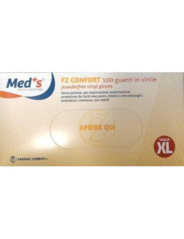 Guanti monouso in vinile (100 pz) – senza polvere TG-XL