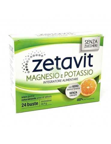 ZETAVIT MAGNESIO POTASSIO SENZA ZUCCHERI 24 BUSTINE '943748804 Integratori Alimentari