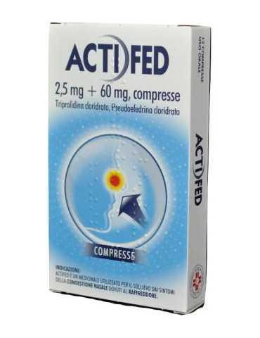 Actifed Decongestionante Nasale 12 Compresse 018723080