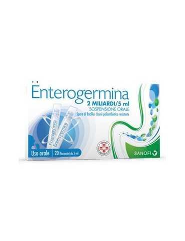 Enterogermina 2 miliardi di spore attive 20fl 2MLD/5ML 013046040