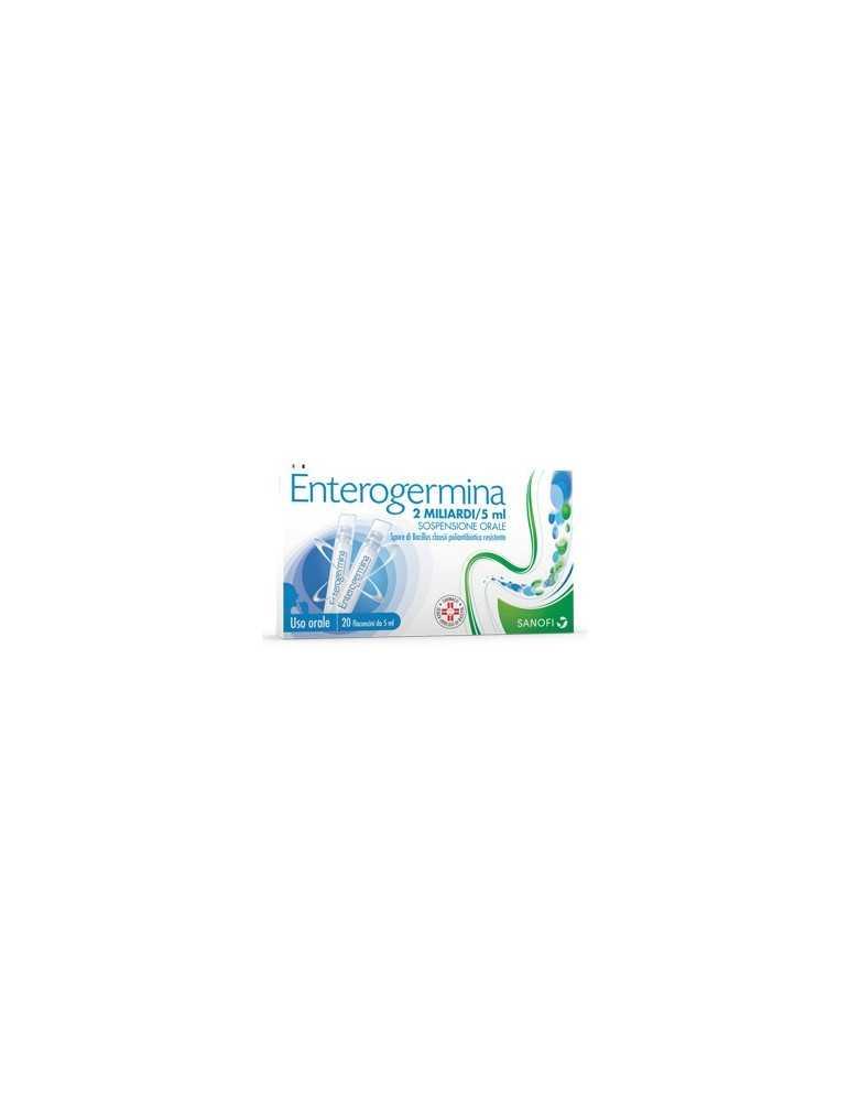 Enterogermina 2 miliardi di spore attive 20fl 2MLD/5ML SANOFI SpA 013046040 Fermenti lattici
