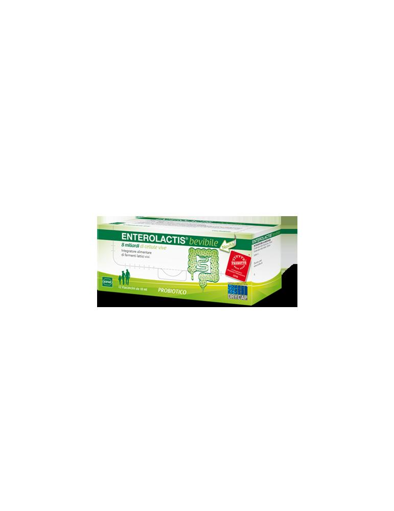 Enterolactis fermenti lattici bevibile 12 flaconcini 10ml Sofar