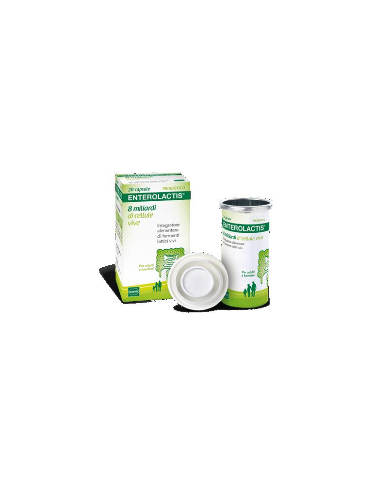 Enterolactis 8 miliardi di fermenti lattici vivi 20cps 907062362