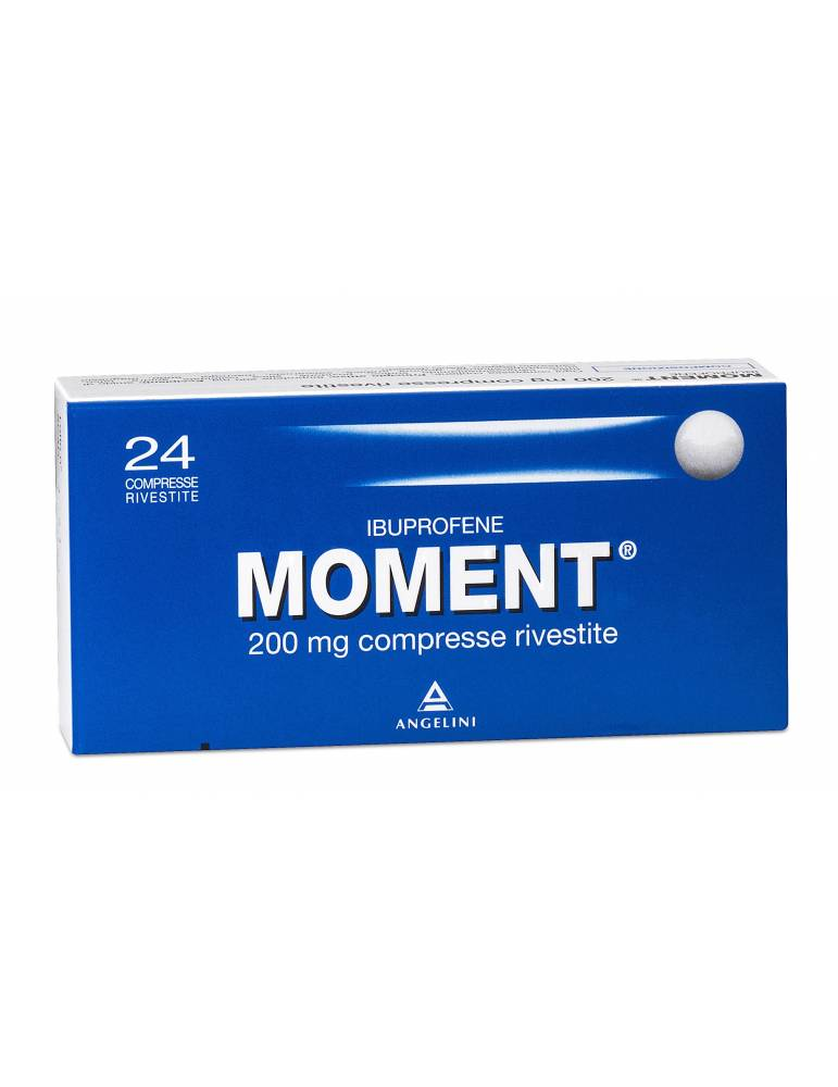Moment 24 compresse rivestite 200mg ANGELINI SpA 025669072 Analgesici e antinfiammatori