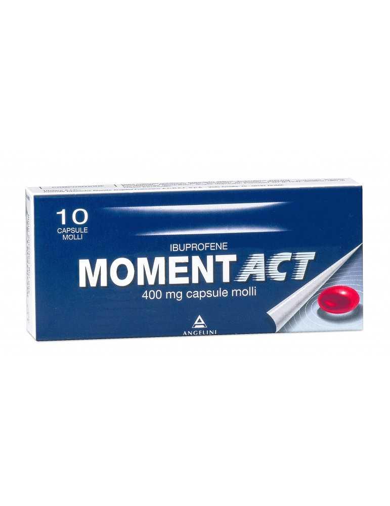 Moment Act 10 capsule molli 400mg ANGELINI SpA 035618038 Analgesici e antinfiammatori