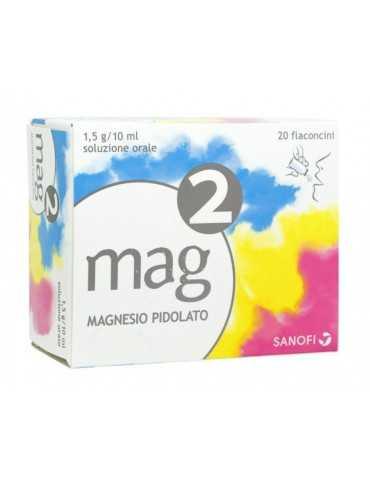 Mag2 Magnesio per soluzione orale 20 flaconcini da 10ml 1,5G/10ML