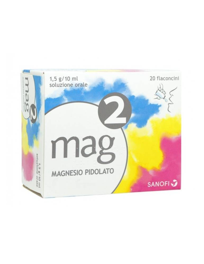 Mag2 Magnesio per soluzione orale 20 flaconcini da 10ml 1,5G/10ML 025519036