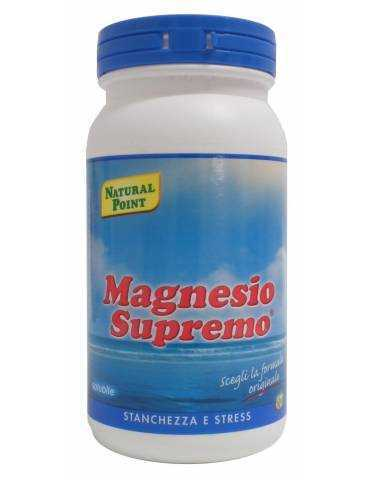 Magnesio Supremo integratore alimentare per stanchezza e stress 150g Natural Point