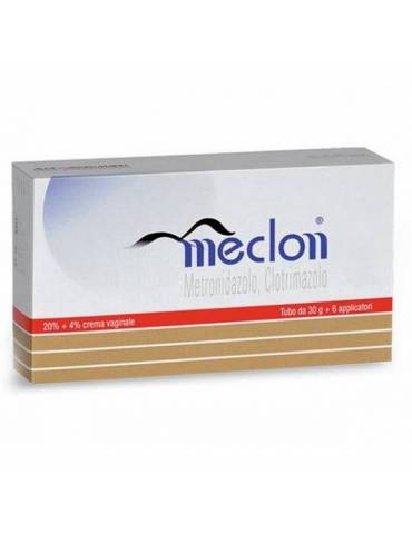 Meclon Crema Vaginale 30g 20 %+ 4 % + 6 Applicatori Alfa Wassermann023703046 Alfa Wassermann