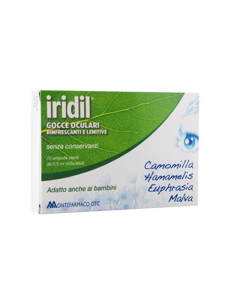 Iridil Gocce Oculari rinfrescanti e lenitive 10 ampolle monodose 0,5ml cad. 900031840