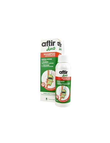 Aftir Duo Shampoo antipidocchi 100ml con pettinino 935559979
