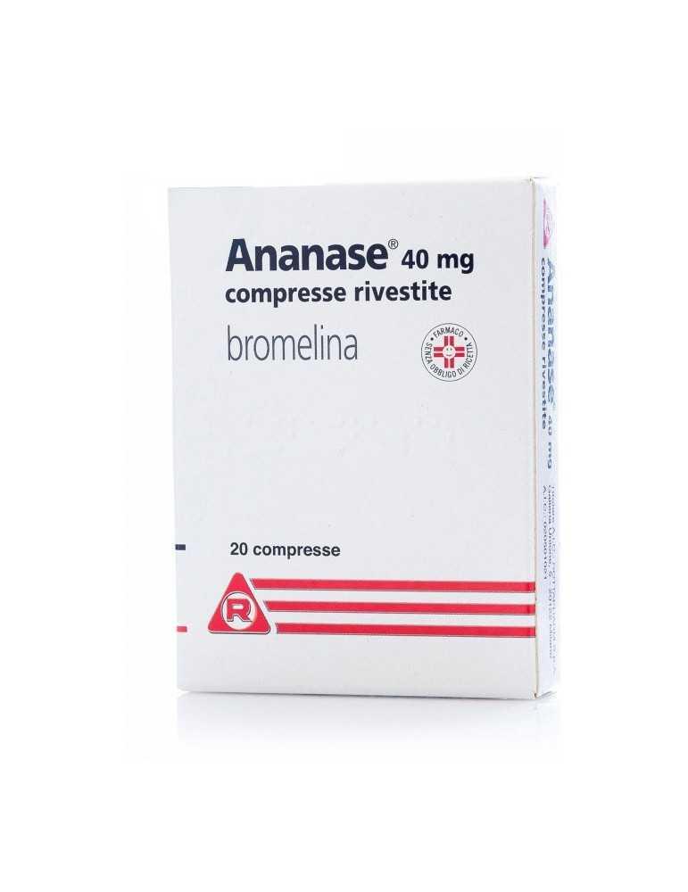Ananase dolore muscolo-scheletrico 40mg 20 compresse rivestite Meda Pharma020501021 Meda Pharma