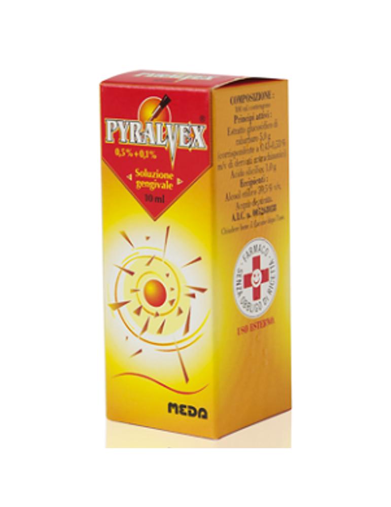 Pyralvex Soluzione Gengivale Flacone 10 ml MEDA PHARMA SpA005268038 MEDA PHARMA SpA