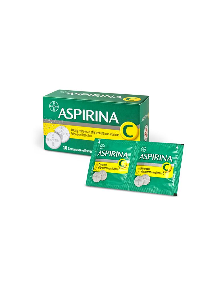 Aspirina C10 Compresse Effervescenti 400+240mg Bayer004763114 Bayer
