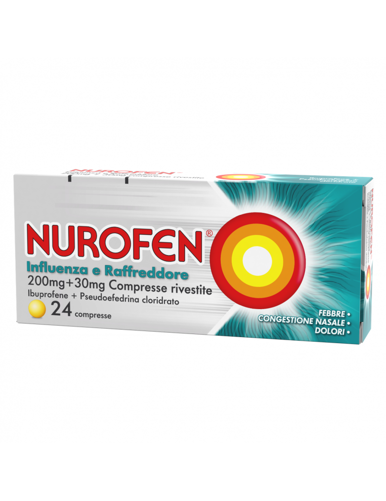 Nurofen Influenza e Raffreddore 24 compresse Reckitt Benckiser034246025 Reckitt Benckiser