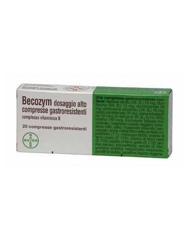 Becozym Vitamina B dosaggio alto 20 compresse gastroresistenti 005647033