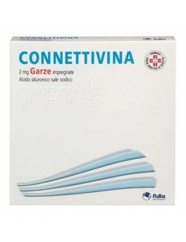 Connettivina 10 Garze cicatrizzanti 2mg 10x10 con acido ialuronico 019875057